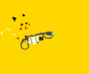 Pikachu playing Team Fortress 2