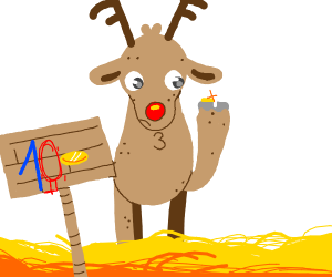 Reindeer can't afford food