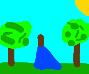 a campsite in the middle of a forest