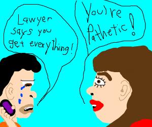 Someone calls crying guy pathetic