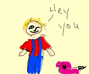 Blonde swineherd flirts with you