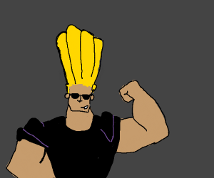 Johnny bravo flexing his muscles