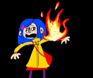 Coraline on fire