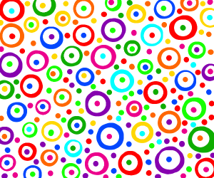 Colorful Abstract circles inside color rings