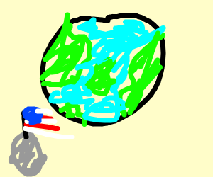 Earth but brightly-coloured