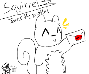 A squirrel gets a smash invitation