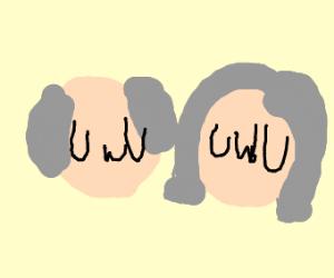 "Old man and old woman saying ""UwU''"