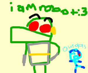 I'm a robot beep says robot