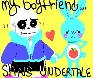 Someone shipping them self with sans(wtf tho)