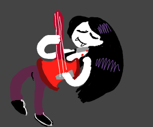 Vampire girl from adventure time jams out