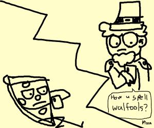 Pizza texting Leprechaun