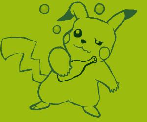 Pikachu is drunk