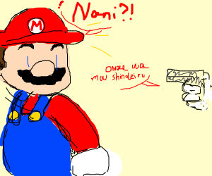 Mario about to get shot