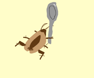Cockroach holding Spoon