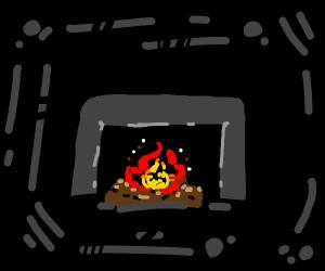 cute fireplace