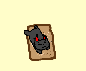 Demon cat on toast