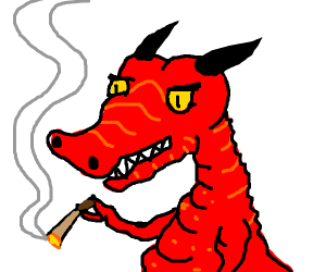 Dragon smoking