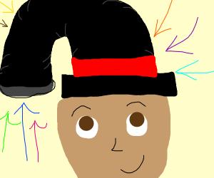 long bendy top hat