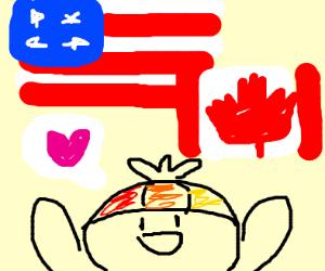 kiddo likes america and canada
