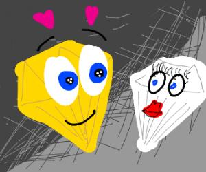 Yellow diamond is enamored by Zircon (SU)