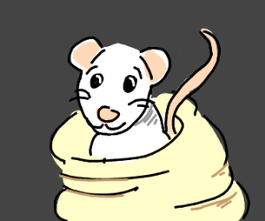 Cute Mouse in a Blanket