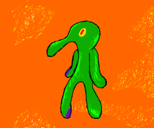 One of Squidward's many paintings