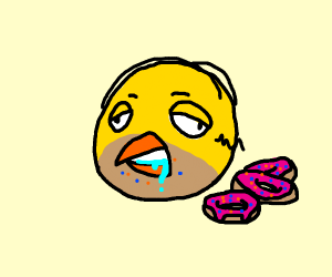 Homer SImpson crossed with an Angry Bird
