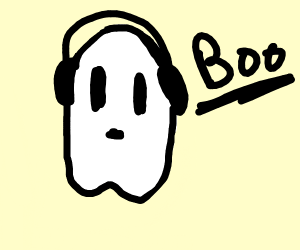 """Spooky ghost saying """"boo!"""" (very scary)"""