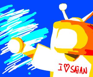 Yellow Robot Loves Satan