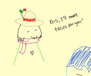 Mexican Ralsei will make Kris tacos
