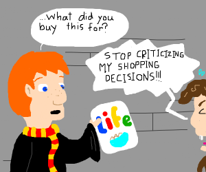 Ron weasly questions lifewithhermione shoutin