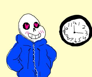 Sans loves clocks