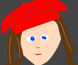 French Woman Wearing Beret