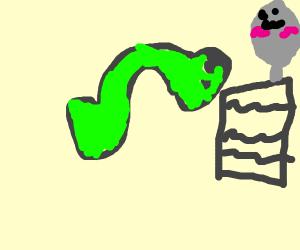 Seahorse writing to Spoon