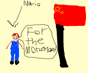 Mario becomes a communist