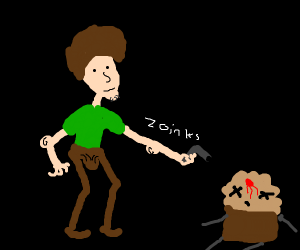 Shaggy kills muffin from that song