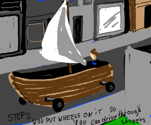 Step 1: Get a boat