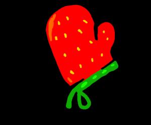 A fruity oven mitt