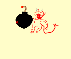 Exploding happy demon