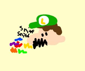 luigi smells colours