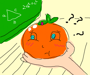 Orange chan has trouble with mathematics