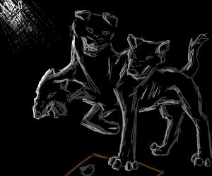 Fluffy (three headed dog)