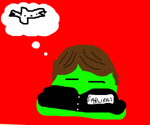 nice japaneese blob thinks about travelling.