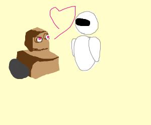 Wall E and Eva in love