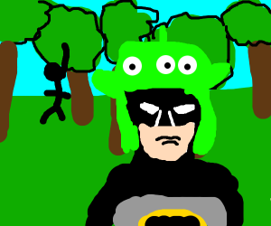 bat man in the forest