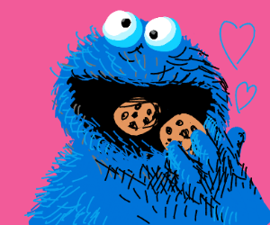 Cookie monster loves cookies