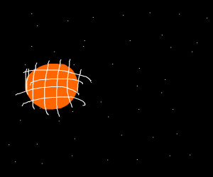 Planet being captured by giant net