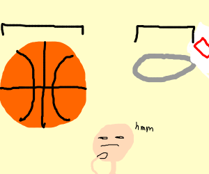 basketball too big for hoops