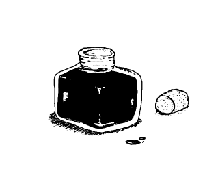 Full inkpot, (just black & white if possible)