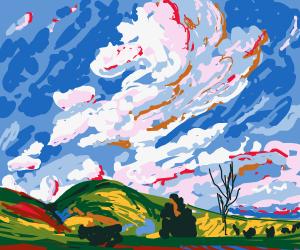 ghibli-esque landscape